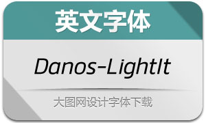 Danos-LightItalic(英文字体)