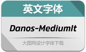 Danos-MediumItalic(英文字体)