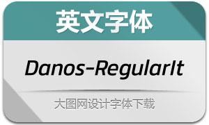 Danos-RegularItalic(英文字体)