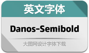 Danos-SemiBold(英文字体)