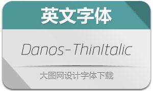 Danos-ThinItalic(英文字体)
