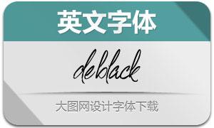 DeBlack(英文字体)