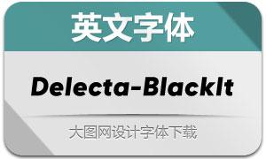 Delecta-BlackItalic(英文字体)
