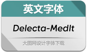 Delecta-MediumItalic(英文字体)