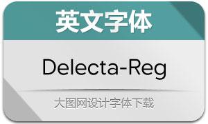 Delecta-Regular(英文字体)