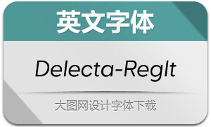 Delecta-RegularItalic(英文字体)