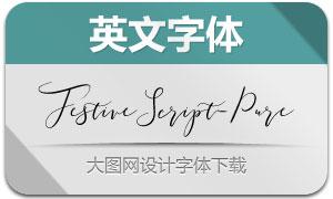 FestiveScript-Pure(英文字体)