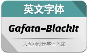 Gafata-BlackItalic(英文字体)