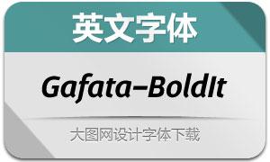 Gafata-BoldItalic(英文字体)