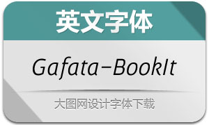 Gafata-BookItalic(英文字体)