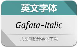 Gafata-Italic(英文字体)