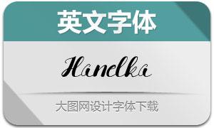 Hanelka(英文字体)