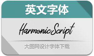 HarmonicScript(英文字体)