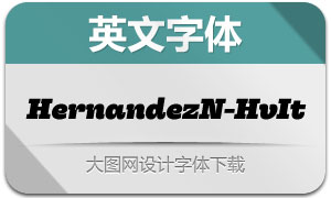 HernandezNiu-HeavyItalic(字体)