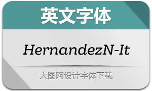 HernandezNiu-Italic(英文字体)