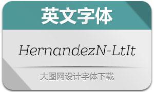 HernandezNiu-LightItalic(字体)
