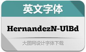HernandezNiu-UltraBold(字体)