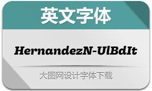 HernandezNiu-UltraBoldIt(英文字体)