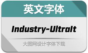 Industry-UltraItalic(英文字体)