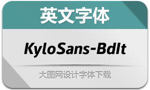 KyloSans-BoldItalic(英文字体)