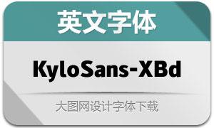 KyloSans-ExtraBold(英文字体)