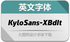 KyloSans-ExtraBoldItalic(英文字体)