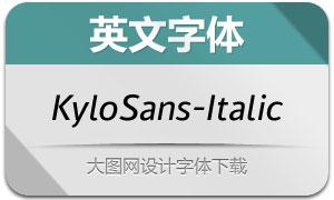 KyloSans-Italic(英文字体)