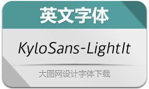 KyloSans-LightItalic(英文字体)