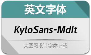 KyloSans-MediumItalic(英文字体)