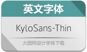 KyloSans-Thin(英文字体)