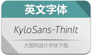 KyloSans-ThinItalic(英文字体)