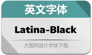 Latina-Black(英文字体)