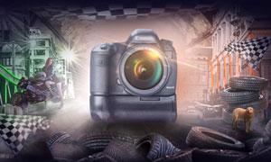 数码相机电商海报设计PS教程素材