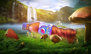 百事可乐电商广告设计PS教程素材