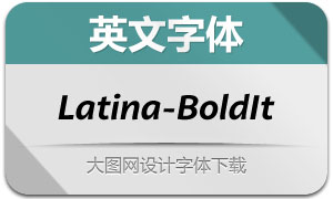 Latina-BoldIt(英文字体)