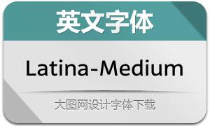 Latina-Medium(英文字体)