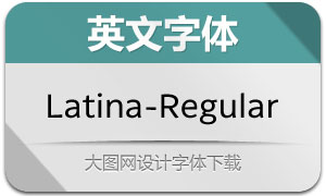 Latina-Regular(英文字体)