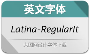 Latina-RegularIt(英文字体)