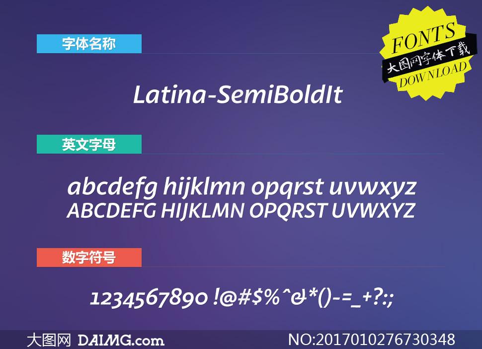 Latina-SemiBoldIt(英文字体)