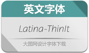 Latina-ThinIt(英文字体)
