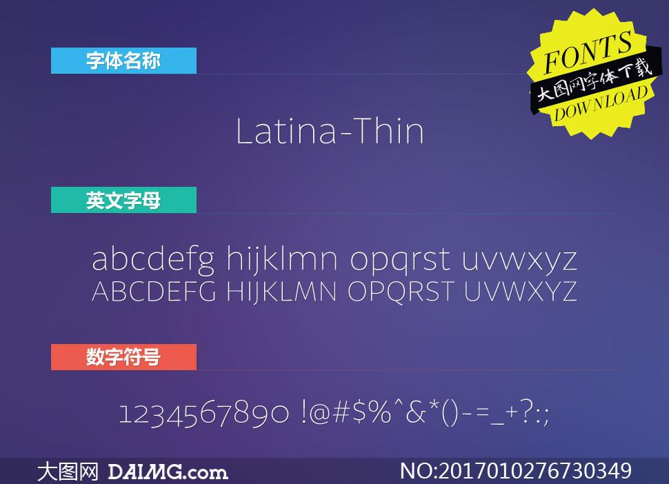 Latina-Thin(英文字体)