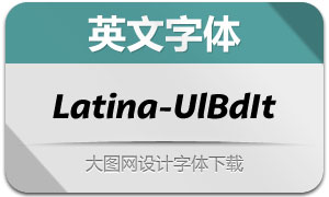 Latina-UltraBoldIt(英文字体)
