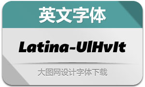 Latina-UltraHeavyIt(英文字体)