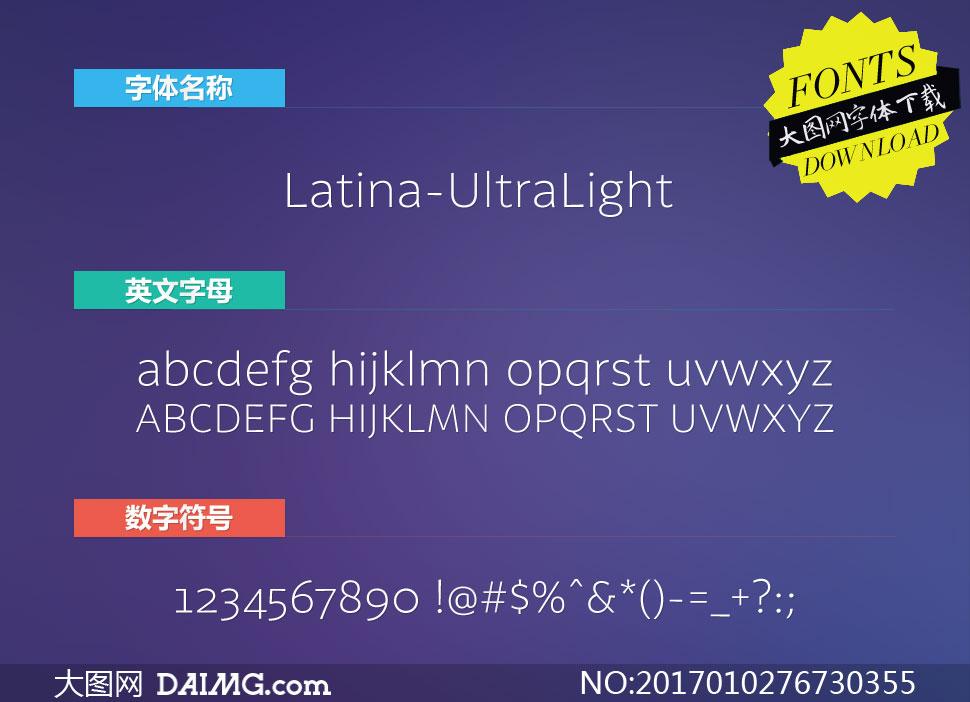 Latina-UltraLight(英文字体)