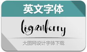 Loganberry(英文字体)