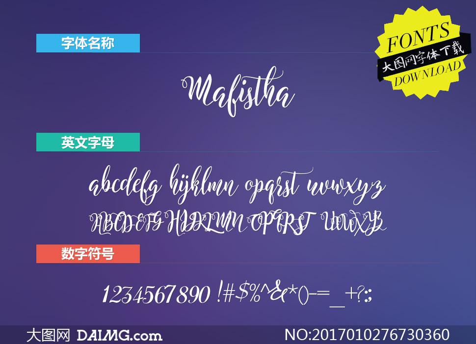 Mafistha(英文字体)