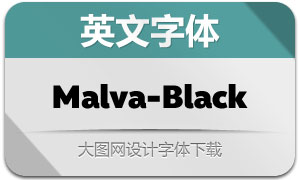 Malva-Black(英文字体)