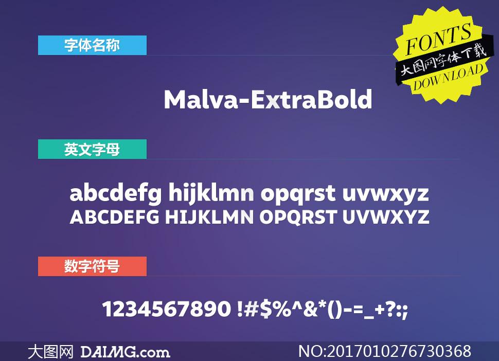 Malva-ExtraBold(英文字体)