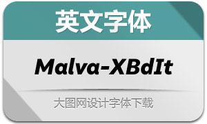 Malva-ExtraBoldItalic(英文字体)
