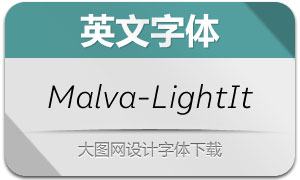 Malva-LightItalic(英文字体)